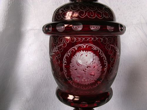 Bohemia ruby glass cup