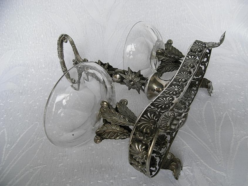 menage saliere aus silber 12 lot deutschland berlin um 1830 ebay. Black Bedroom Furniture Sets. Home Design Ideas