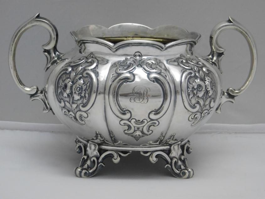 zwei becher vasen silber 950 er frankreich paris 1900. Black Bedroom Furniture Sets. Home Design Ideas