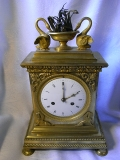 Mantel clock - France gold plated